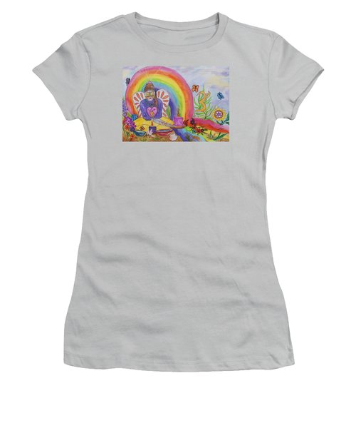 Butterfly Woman Healer I Am Women's T-Shirt (Junior Cut) by Ellen Levinson