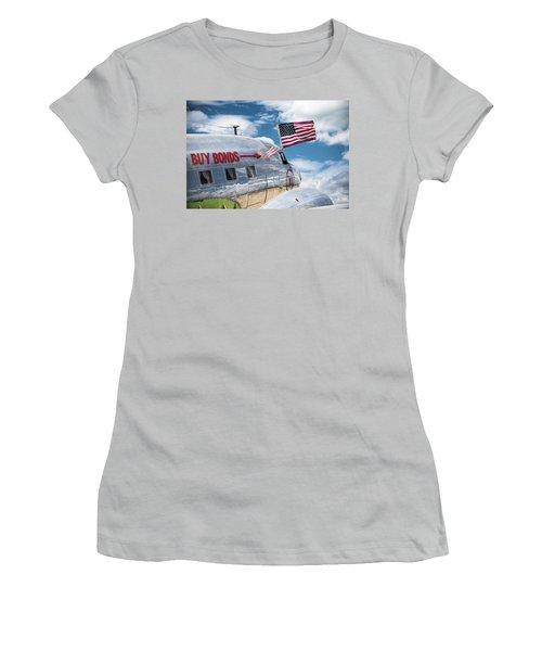 Women's T-Shirt (Junior Cut) featuring the photograph Buy Bonds by Steven Bateson