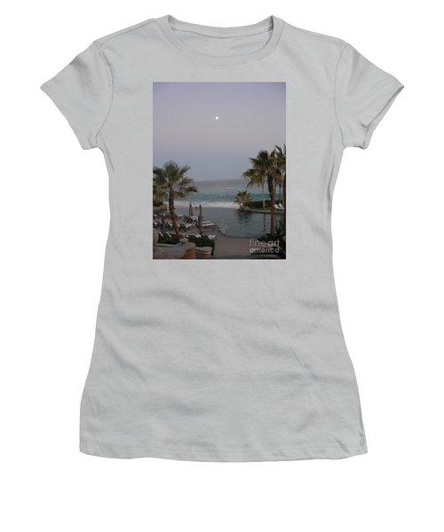 Cabo Moonlight Women's T-Shirt (Junior Cut) by Susan Garren