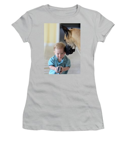 Women's T-Shirt (Junior Cut) featuring the photograph Can You Hear Me Now by Lisa Phillips