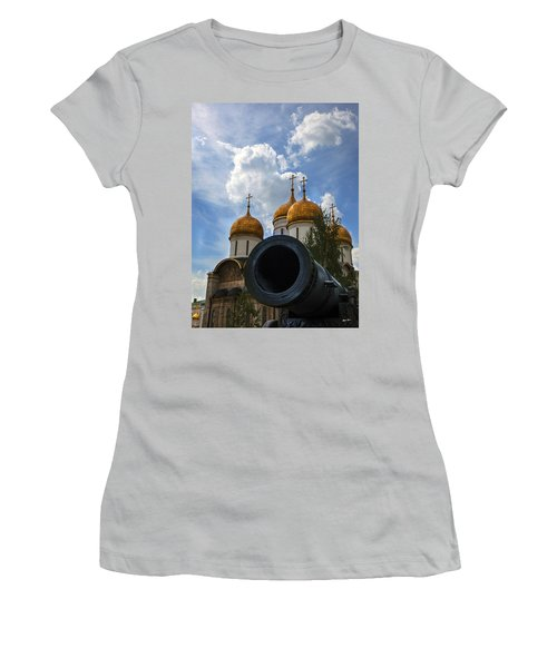 Cannon And Cathedral  - Russia Women's T-Shirt (Athletic Fit)