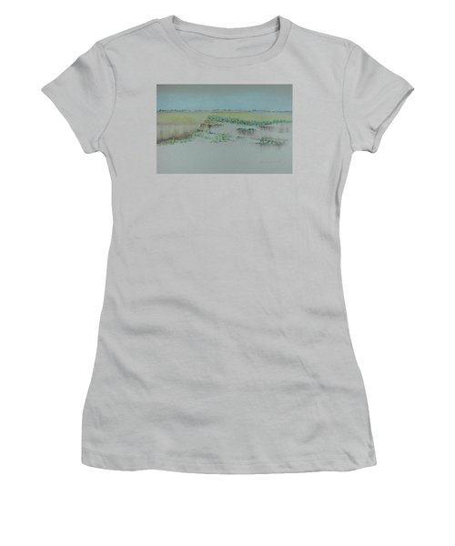 Women's T-Shirt (Junior Cut) featuring the pastel Canyon View by Michele Myers