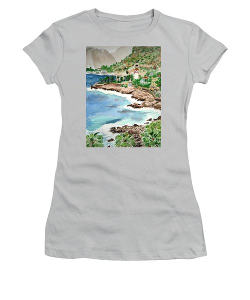 Cap D'ail On A Rainy Day Women's T-Shirt (Athletic Fit)