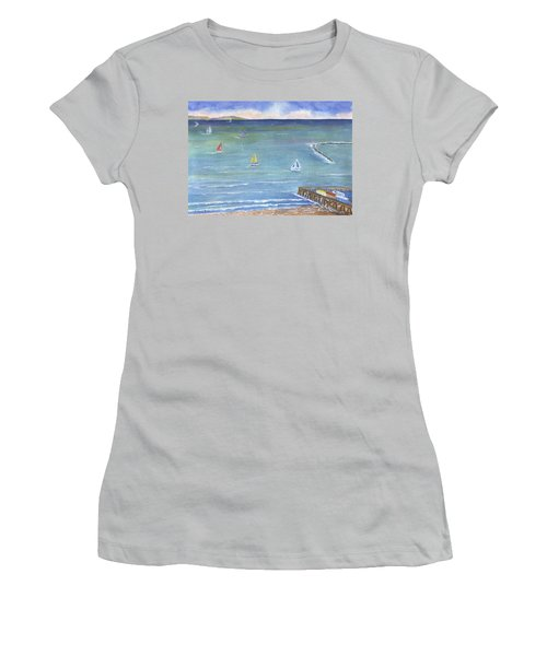 Catalina To Redondo Women's T-Shirt (Junior Cut) by Jamie Frier