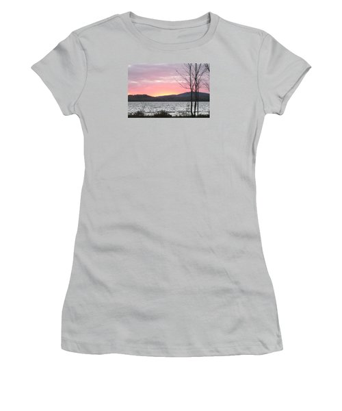 Caucomgomoc Lake Sunset In Maine Women's T-Shirt (Athletic Fit)