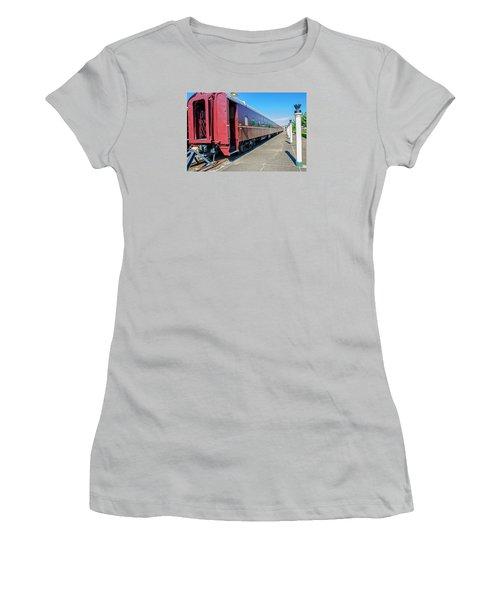 Women's T-Shirt (Junior Cut) featuring the photograph Chattanooga Choo Choo 1 by Susan  McMenamin