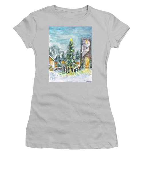 Christmas Spirit Women's T-Shirt (Junior Cut) by Teresa White