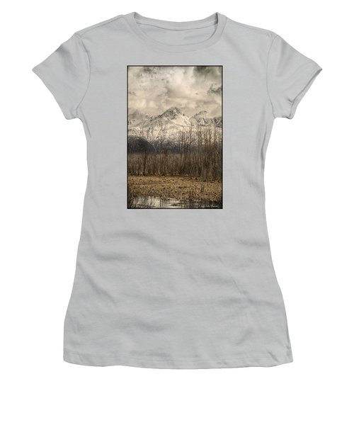 Chugach Mountains In Storm Women's T-Shirt (Athletic Fit)