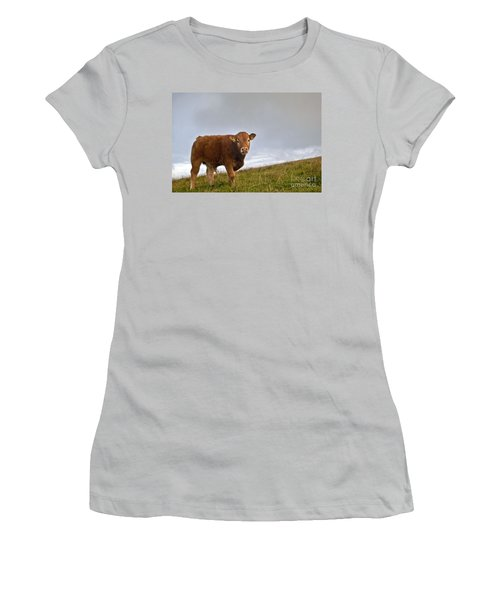 Cliffs Of Moher Brown Cow Women's T-Shirt (Athletic Fit)