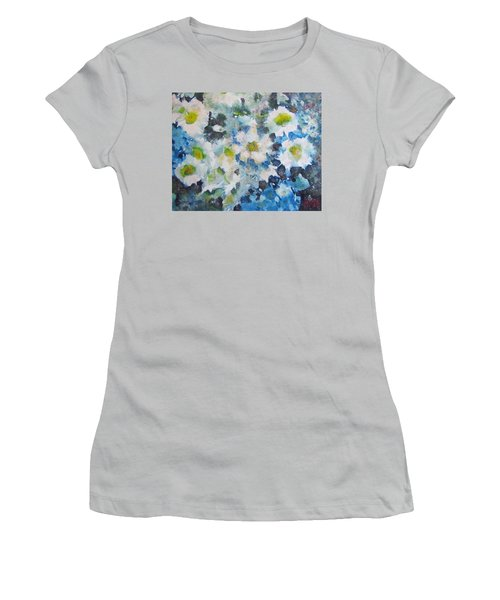 Cluster Of Daisies Women's T-Shirt (Junior Cut) by Richard James Digance