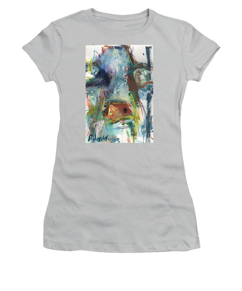 Colorful Cow Print Women's T-Shirt (Athletic Fit)