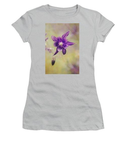 Columbine Flower Women's T-Shirt (Athletic Fit)