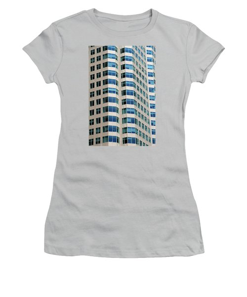 Concrete And Blue Glass Women's T-Shirt (Junior Cut) by Valentino Visentini