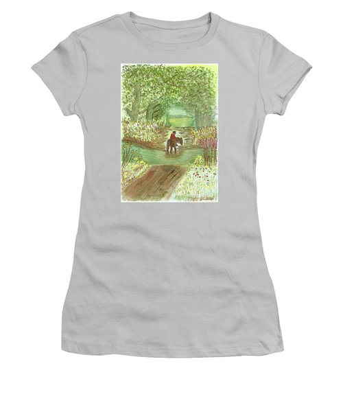 Cooling Off Women's T-Shirt (Junior Cut) by Tracey Williams