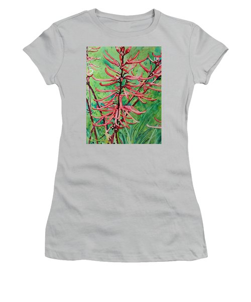 Coral Bean Flowers Women's T-Shirt (Athletic Fit)
