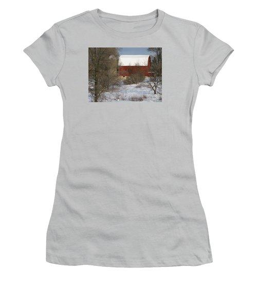 Country Winter Women's T-Shirt (Junior Cut) by Ann Horn