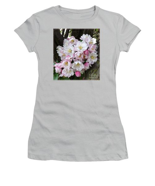 Crab Apple Blossoms Women's T-Shirt (Athletic Fit)