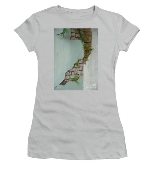 Women's T-Shirt (Junior Cut) featuring the photograph Cracked by Valerie Reeves