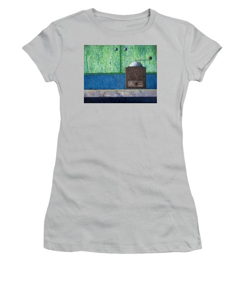 Women's T-Shirt (Junior Cut) featuring the painting Crafting Creation by A  Robert Malcom