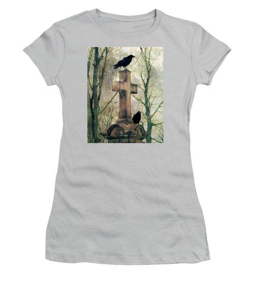 Urban Graveyard Crows Women's T-Shirt (Athletic Fit)