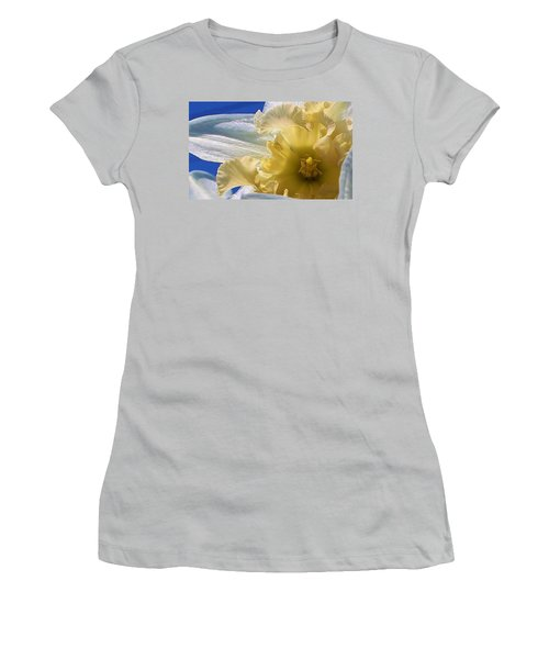 Women's T-Shirt (Junior Cut) featuring the photograph Daffodil In The Sun by Bruce Bley