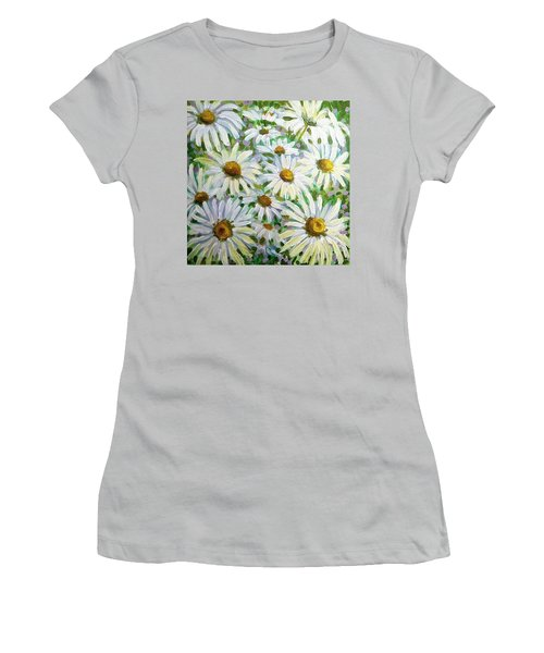 Daisies Women's T-Shirt (Junior Cut) by Jeanette Jarmon
