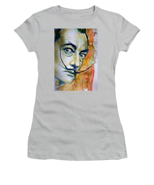 Women's T-Shirt (Junior Cut) featuring the painting Dali by Laur Iduc