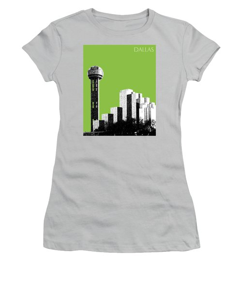 Dallas Skyline Reunion Tower - Olive Women's T-Shirt (Athletic Fit)