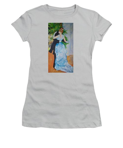 Women's T-Shirt (Junior Cut) featuring the painting Dance In The City  by Eric  Schiabor