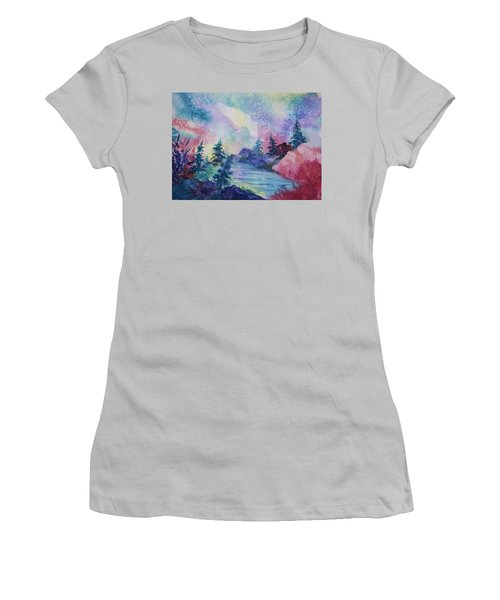 Dancing Lights II Women's T-Shirt (Junior Cut) by Ellen Levinson