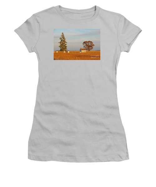 Women's T-Shirt (Junior Cut) featuring the photograph Days End by Mary Carol Story