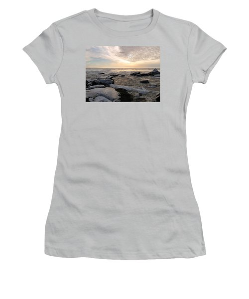 Dazzling Winter On Lake Superior Women's T-Shirt (Athletic Fit)