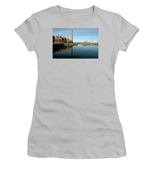Women's T-Shirt (Junior Cut) featuring the photograph Deep Blue Reflections by Jonah  Anderson