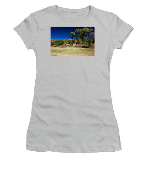 Desert Field Women's T-Shirt (Junior Cut) by Dave Files