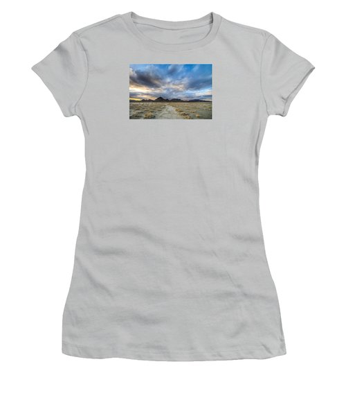 Women's T-Shirt (Athletic Fit) featuring the photograph Desert Road by Dustin  LeFevre
