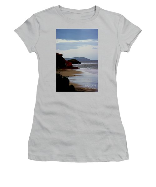 Digital Painting Of Smiths Beach Women's T-Shirt (Athletic Fit)