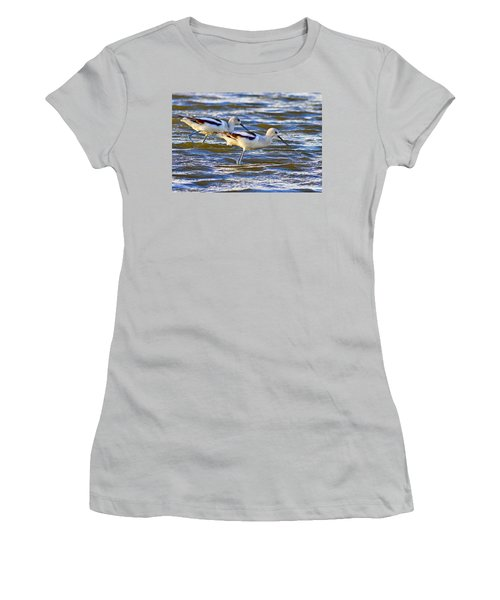 Women's T-Shirt (Junior Cut) featuring the photograph Dribbling Contest by Gary Holmes