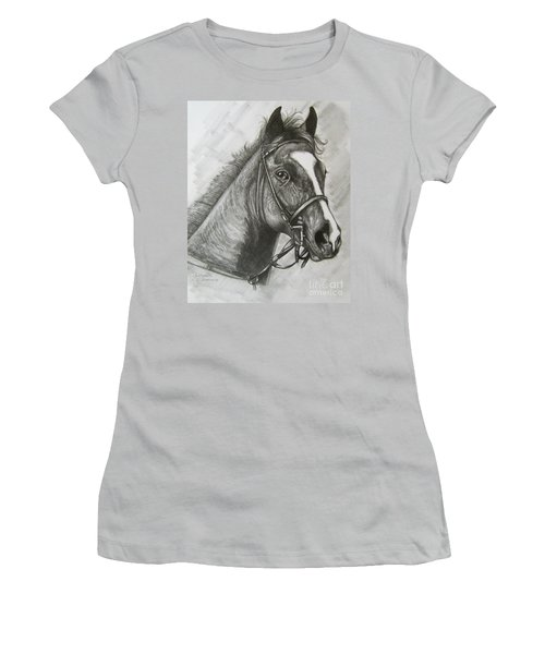 Women's T-Shirt (Junior Cut) featuring the drawing Dullahan by Patrice Torrillo