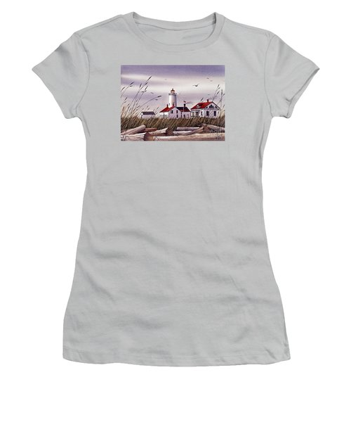 Dungeness Lighthouse Women's T-Shirt (Athletic Fit)
