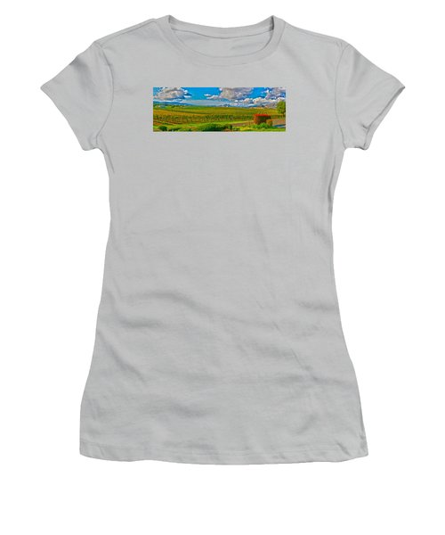 Edna Wineries Ca Women's T-Shirt (Junior Cut) by Richard J Cassato