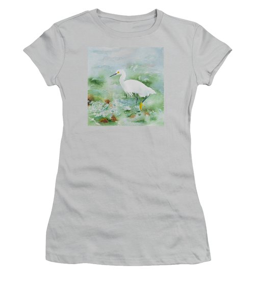 Egret 2 Women's T-Shirt (Athletic Fit)