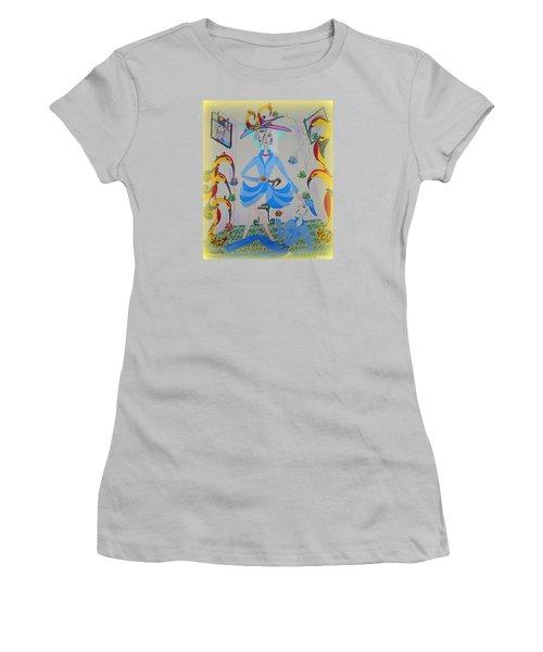 Eleonore Tea Party Women's T-Shirt (Junior Cut) by Marie Schwarzer
