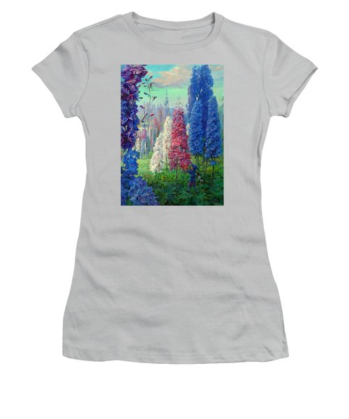 Elf And Fantastic Flowers Women's T-Shirt (Athletic Fit)