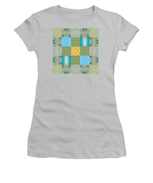 Ellipse Quilt 1 Women's T-Shirt (Junior Cut) by Kevin McLaughlin