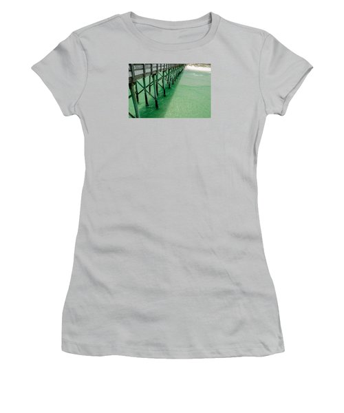 Women's T-Shirt (Junior Cut) featuring the photograph Emerald Green Tide  by Susan  McMenamin