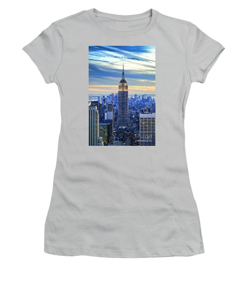 Empire State Building New York City Usa Women's T-Shirt (Junior Cut) by Sabine Jacobs