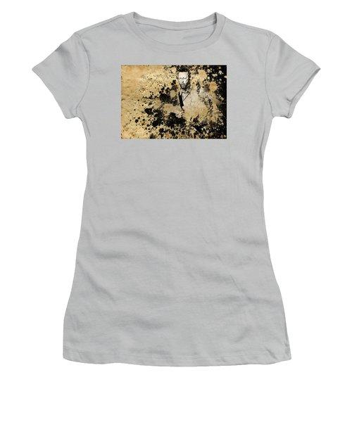 Eric Clapton 3 Women's T-Shirt (Junior Cut) by Bekim Art