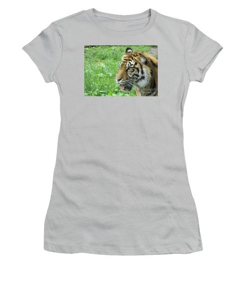 Women's T-Shirt (Junior Cut) featuring the photograph Eye Of The Tiger by Lingfai Leung