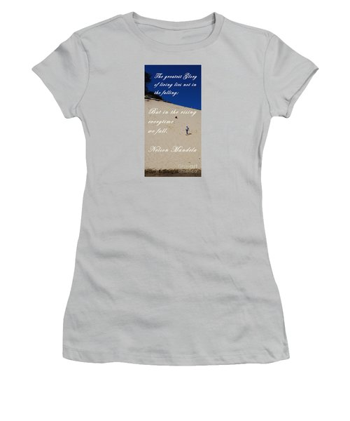 Fall And Rise Women's T-Shirt (Junior Cut) by Sharon Elliott