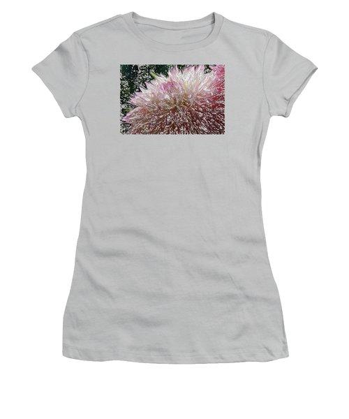 Women's T-Shirt (Junior Cut) featuring the photograph Fantasy Dahlia by Denyse Duhaime